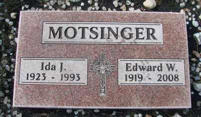 MOTSINGER, EDWARD W - Tillamook County, Oregon | EDWARD W MOTSINGER - Oregon Gravestone Photos
