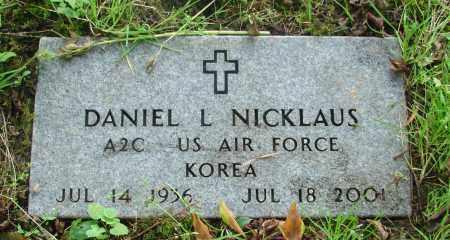 NICKLAUS, DANIEL L - Tillamook County, Oregon | DANIEL L NICKLAUS - Oregon Gravestone Photos