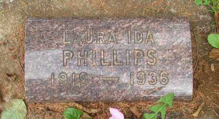 PHILLIPS, LAURA IDA - Tillamook County, Oregon | LAURA IDA PHILLIPS - Oregon Gravestone Photos