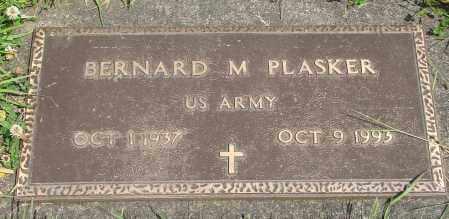 PLASKER, BERNARD M - Tillamook County, Oregon | BERNARD M PLASKER - Oregon Gravestone Photos