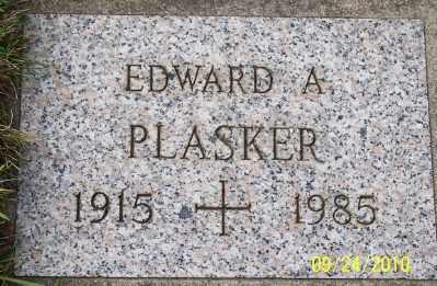 PLASKER, EDWARD A - Tillamook County, Oregon | EDWARD A PLASKER - Oregon Gravestone Photos