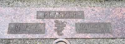 PLASKER, HENRY A - Tillamook County, Oregon   HENRY A PLASKER - Oregon Gravestone Photos