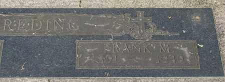 REDING, FRANK M - Tillamook County, Oregon | FRANK M REDING - Oregon Gravestone Photos