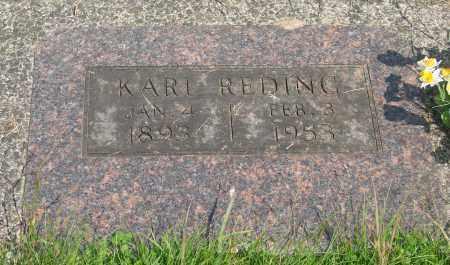 REDING, KARL - Tillamook County, Oregon | KARL REDING - Oregon Gravestone Photos