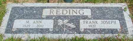 REDING, M ANN - Tillamook County, Oregon | M ANN REDING - Oregon Gravestone Photos