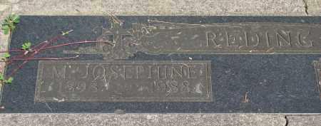 REDING, M JOSEPHINE - Tillamook County, Oregon   M JOSEPHINE REDING - Oregon Gravestone Photos