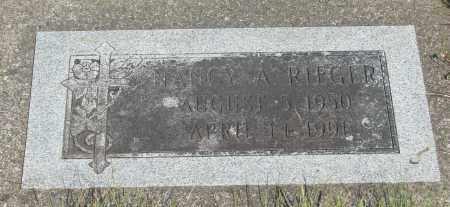RIEGER, NANCY A - Tillamook County, Oregon | NANCY A RIEGER - Oregon Gravestone Photos