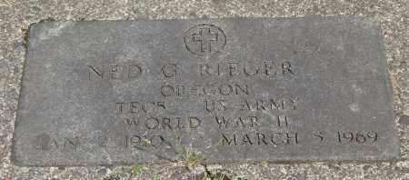 RIEGER, NED G - Tillamook County, Oregon | NED G RIEGER - Oregon Gravestone Photos