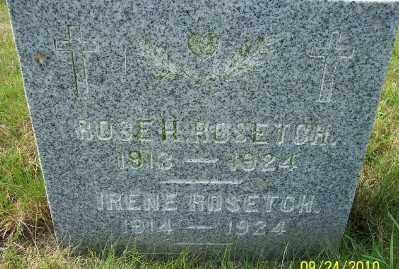 ROSETCH, IRENE - Tillamook County, Oregon | IRENE ROSETCH - Oregon Gravestone Photos