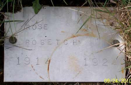 ROSETCH, ROSE H - Tillamook County, Oregon | ROSE H ROSETCH - Oregon Gravestone Photos