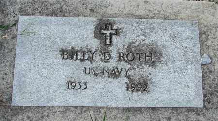 ROTH, BILLY D - Tillamook County, Oregon | BILLY D ROTH - Oregon Gravestone Photos