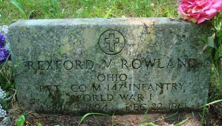 ROWLAND (WWI), REXFORD V - Tillamook County, Oregon   REXFORD V ROWLAND (WWI) - Oregon Gravestone Photos