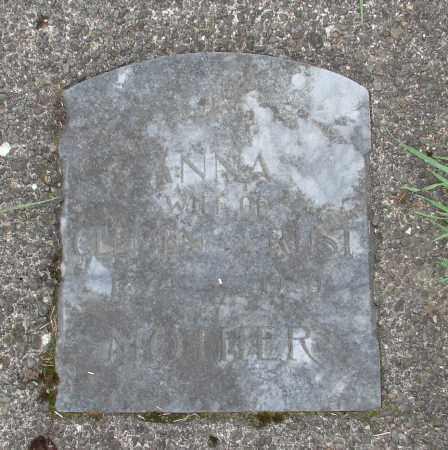 RUST, ANNA - Tillamook County, Oregon | ANNA RUST - Oregon Gravestone Photos