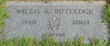 RUTLEDGE, WILLIS A - Tillamook County, Oregon | WILLIS A RUTLEDGE - Oregon Gravestone Photos