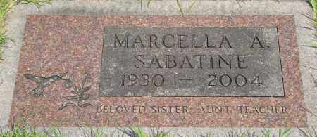 SABATINE, MARCELLA A - Tillamook County, Oregon | MARCELLA A SABATINE - Oregon Gravestone Photos