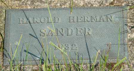 SANDER, HAROLD HERMAN - Tillamook County, Oregon | HAROLD HERMAN SANDER - Oregon Gravestone Photos