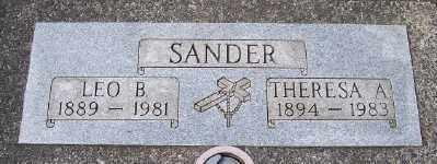 SANDER, THERESA A - Tillamook County, Oregon   THERESA A SANDER - Oregon Gravestone Photos