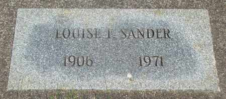 SANDER, LOUISE I - Tillamook County, Oregon | LOUISE I SANDER - Oregon Gravestone Photos