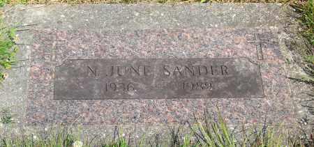 SANDER, N JUNE - Tillamook County, Oregon   N JUNE SANDER - Oregon Gravestone Photos