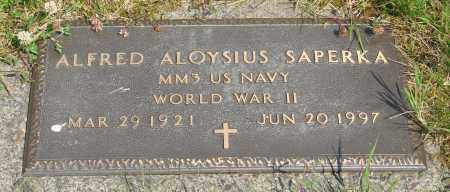 SAPERKA (WWII), ALFRED ALOYSIUS - Tillamook County, Oregon   ALFRED ALOYSIUS SAPERKA (WWII) - Oregon Gravestone Photos