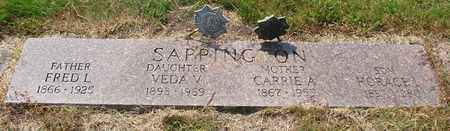 SAPPINGTON, FRED L - Tillamook County, Oregon | FRED L SAPPINGTON - Oregon Gravestone Photos