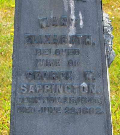 SAPPINGTON, MARY ELIZABETH - Tillamook County, Oregon   MARY ELIZABETH SAPPINGTON - Oregon Gravestone Photos