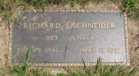 SCHNEIDER, RICHARD J - Tillamook County, Oregon | RICHARD J SCHNEIDER - Oregon Gravestone Photos