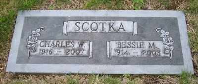 SCOTKA, CHARLES W - Tillamook County, Oregon | CHARLES W SCOTKA - Oregon Gravestone Photos