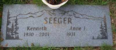 SEEGER, ANNE J - Tillamook County, Oregon | ANNE J SEEGER - Oregon Gravestone Photos