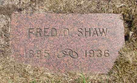 SHAW, FRED D - Tillamook County, Oregon   FRED D SHAW - Oregon Gravestone Photos