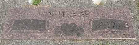 SHAW, MARY A - Tillamook County, Oregon | MARY A SHAW - Oregon Gravestone Photos