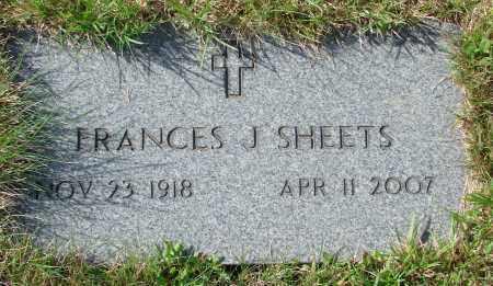 SHEETS, FRANCES J - Tillamook County, Oregon   FRANCES J SHEETS - Oregon Gravestone Photos