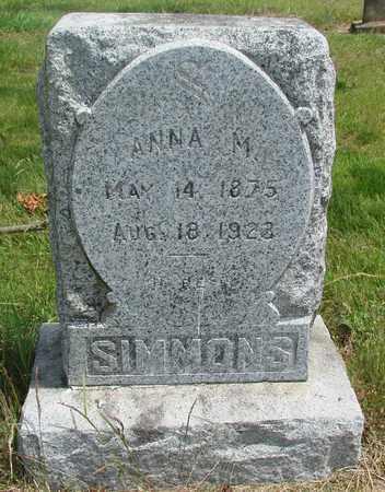 SIMMONS, ANNA MAGNALENE - Tillamook County, Oregon | ANNA MAGNALENE SIMMONS - Oregon Gravestone Photos
