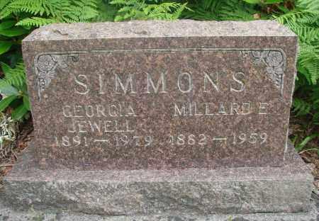 SIMMONS, GEORGIA JEWELL - Tillamook County, Oregon | GEORGIA JEWELL SIMMONS - Oregon Gravestone Photos