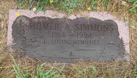 SIMMONS, HOMER A - Tillamook County, Oregon | HOMER A SIMMONS - Oregon Gravestone Photos