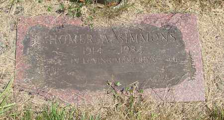 SIMMONS, HOMER A - Tillamook County, Oregon | HOMER A SIMMONS - Oregon Gravestone Photos