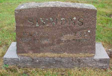 SIMMONS, M LAVINA - Tillamook County, Oregon | M LAVINA SIMMONS - Oregon Gravestone Photos