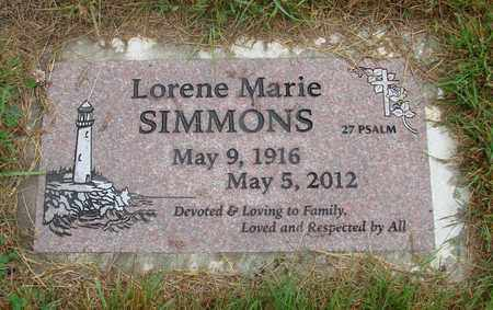 SIMMONS, LORENE MARIE - Tillamook County, Oregon   LORENE MARIE SIMMONS - Oregon Gravestone Photos