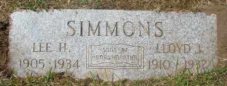 SIMMONS, LEE H - Tillamook County, Oregon | LEE H SIMMONS - Oregon Gravestone Photos