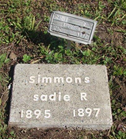 SIMMONS, SADIE R - Tillamook County, Oregon   SADIE R SIMMONS - Oregon Gravestone Photos