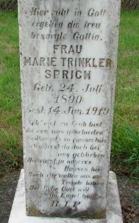 SPRICH, MARIE - Tillamook County, Oregon | MARIE SPRICH - Oregon Gravestone Photos