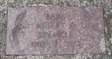 STANGLE, ALBERT D - Tillamook County, Oregon   ALBERT D STANGLE - Oregon Gravestone Photos
