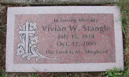 STANGLE, VIVIAN W - Tillamook County, Oregon   VIVIAN W STANGLE - Oregon Gravestone Photos