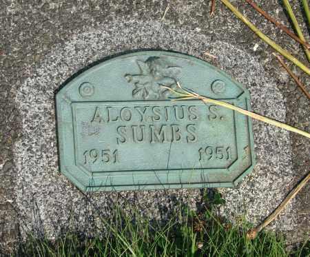 SUMBS, ALOYSIUS S - Tillamook County, Oregon   ALOYSIUS S SUMBS - Oregon Gravestone Photos