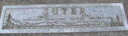 SUTER, LORENZ - Tillamook County, Oregon | LORENZ SUTER - Oregon Gravestone Photos