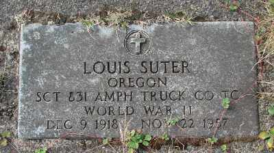 SUTER (WWII), LOUIS - Tillamook County, Oregon | LOUIS SUTER (WWII) - Oregon Gravestone Photos