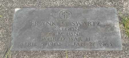SWARTZ (WWII), FRANK M - Tillamook County, Oregon | FRANK M SWARTZ (WWII) - Oregon Gravestone Photos
