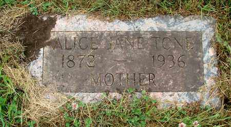 TONE, ALICE JANE - Tillamook County, Oregon | ALICE JANE TONE - Oregon Gravestone Photos