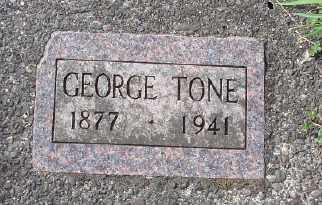 TONE, GEORGE - Tillamook County, Oregon | GEORGE TONE - Oregon Gravestone Photos