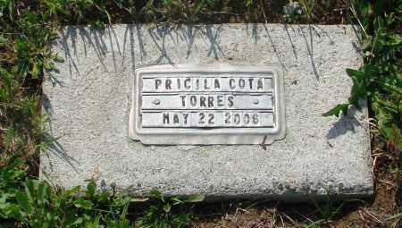TORRES, PRICILA COTA - Tillamook County, Oregon | PRICILA COTA TORRES - Oregon Gravestone Photos